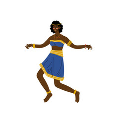 African woman dancing aboriginal girl dressed in vector