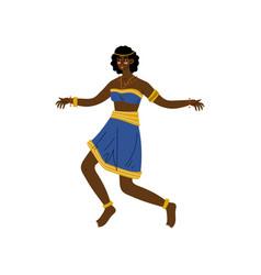 African woman dancing aboriginal girl dressed vector