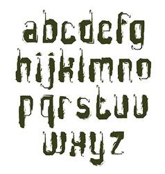alphabet letters set hand-drawn monochrome script vector image