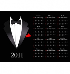 American calendar vector image