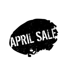April sale rubber stamp vector
