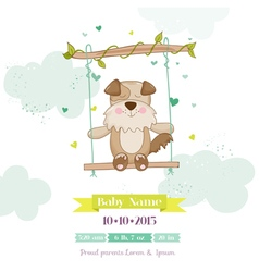 Baby Shower or Arrival Card - Baby Dog vector image