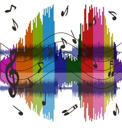 Background music wave vector