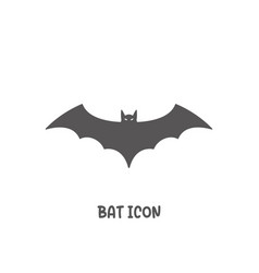 bat icon simple flat style vector image