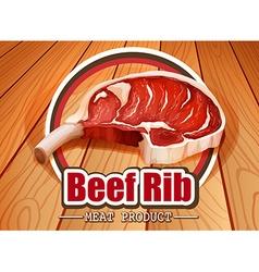 Beef rib vector