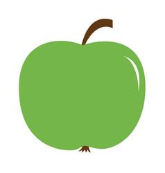 big fresh green apple icon healthy food lifestyle vector image