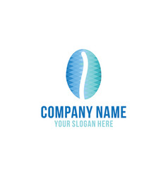 blue ice brew coffee logo design inspiration vector image