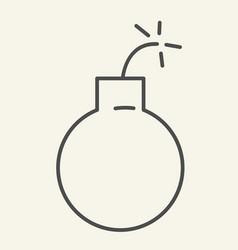 bomb thin line icon ball vector image