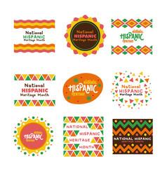 Bundle national hispanic heritage letterings vector