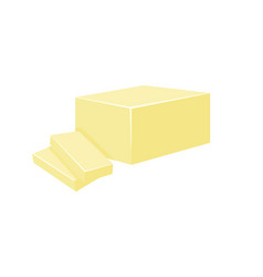 Butter isolated on white vector