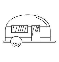 Camp trailer icon outline style vector