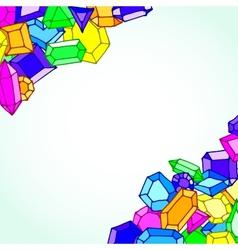 Cartoon doodle gems background vector