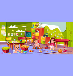 cartoon kindergarten montessori infants vector image