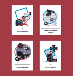 Collection with vertical cards and flyers vector