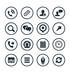 Company icons universal set vector
