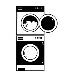 Contour electronic washing machine and dryer to vector
