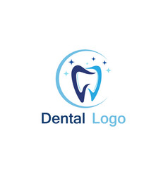 Dental care logo and symbol vector