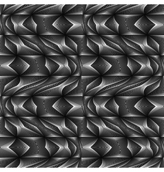 Design seamless monochrome movement pattern vector image
