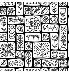 Ethnic floral wall seamless pattern for your vector