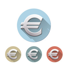 Euro sign on white background vector