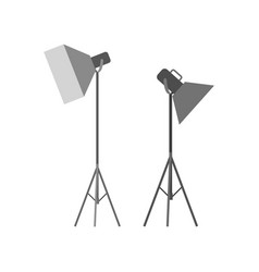 Flashstand portable mounted flash speedlite light vector