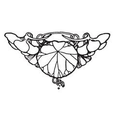Floral tailpiece is a simple decorative elements vector