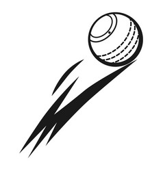 flying cricket ball icon simple style vector image