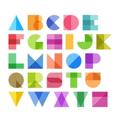 Geometric shapes alphabet letters vector