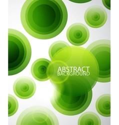 Green circles abstract vector