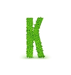 Green Leaves font K vector image