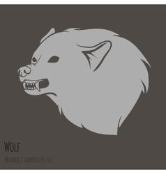 Grey Wolf Silhouette vector image