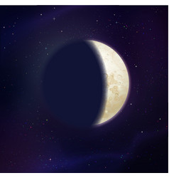 growing moon phase vector image