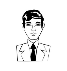 head man avatar comic vector image