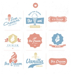 Ice cream shop logo vector