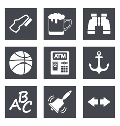 Icons for Web Design and Mobile Applications set 4 vector
