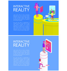 Interactive reality fun set vector