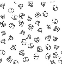 international delivery seamless pattern vector image