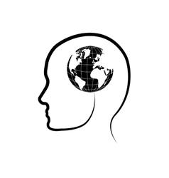 Isolated earth world vector