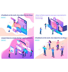 isometric article bright concept vector image