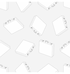 Linear briefcase seamless pattern vector