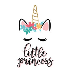 Little princess text vector