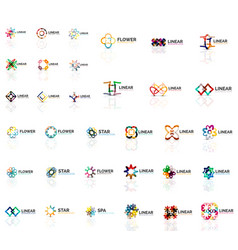 Logo mega collection abstract symmetric geometric vector