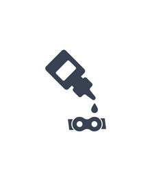Lubricant oil for bike chain icon vector