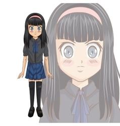Manga cartoon girl design vector