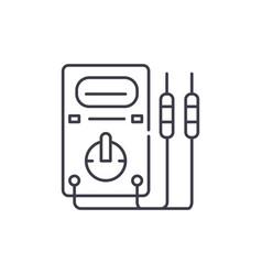 measuring instruments line icon concept measuring vector image