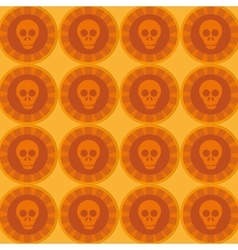 mexican Sugar Skull pattern vector image