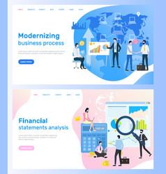 modernizing business process financial analysis vector image