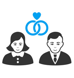 people marriage flat icon vector image