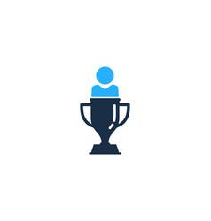 people trophy logo icon design vector image