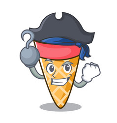 Pirate ice cream tone character cartoon vector